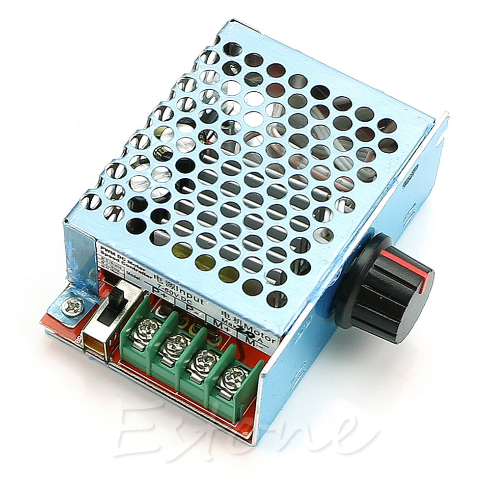 Гаджет  DC9V-60V 20A PWM Pulse Width Motor Speed Controller Dimmer Governor 12v 24v 720W None Электронные компоненты и материалы