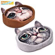 Lovely Cat 3D Realistic Pattern Pet Bed Soft Kennel For Puppy Pet Pillow Cushion Cat Mats Cartoon Dog House Small Dog Sleep Mat(China (Mainland))