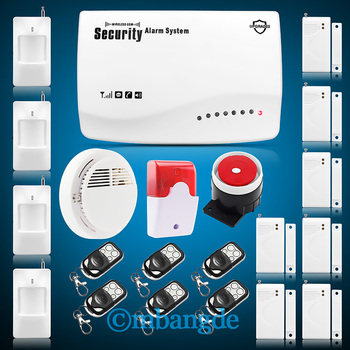 New Arrival Wireless GSM Home Burglar Auto Dialer Pir Sensor Remote Alarm Security System free shipping
