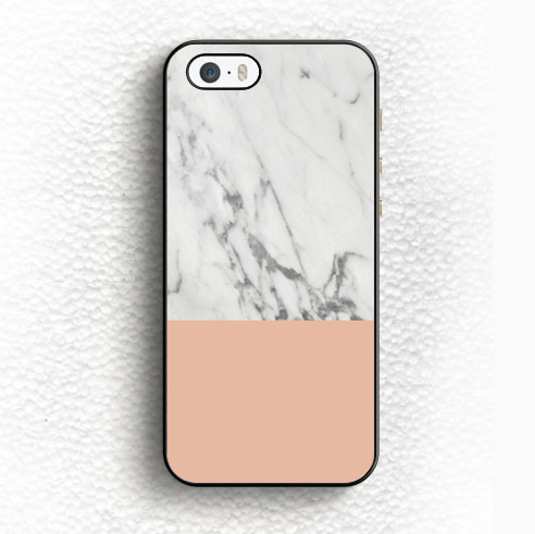 Marble and Coral Printed Soft TPU Black Skin OEM Mobile Phone Case For iPhone 6 6S Plus 5 5S 5C SE 4 4S Back Shell Case Cover(China (Mainland))