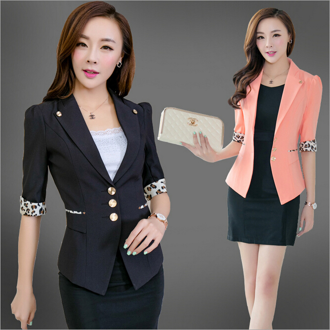 Autumn Korean version Slim thin Puff ladies joker 5 points Sleeve Fashion Women small suit jacket Casual business wear - Specialty trading company fairyland store