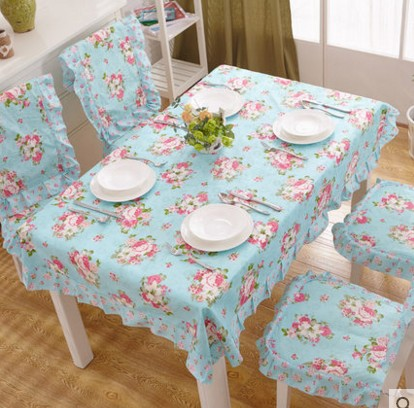 2016 new 9 Design Option Blue Flower table Cloth High quality cotton dining tablecloth Plaid pink Table Cover party Home B35(China (Mainland))