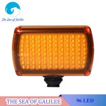 NEW 96 LED  Photo Light on Camera Video Hotshoe LED Lamp Lighting for Camera DSLR with 2500mAh Battery AC Adapter