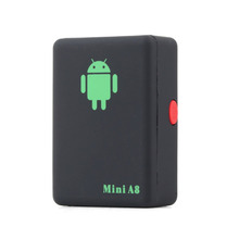 New 1pcs GPS Tracker Mini A8, Mini Global Real Time GSM/GPRS/GPS Tracking Device With SOS Button*(China (Mainland))