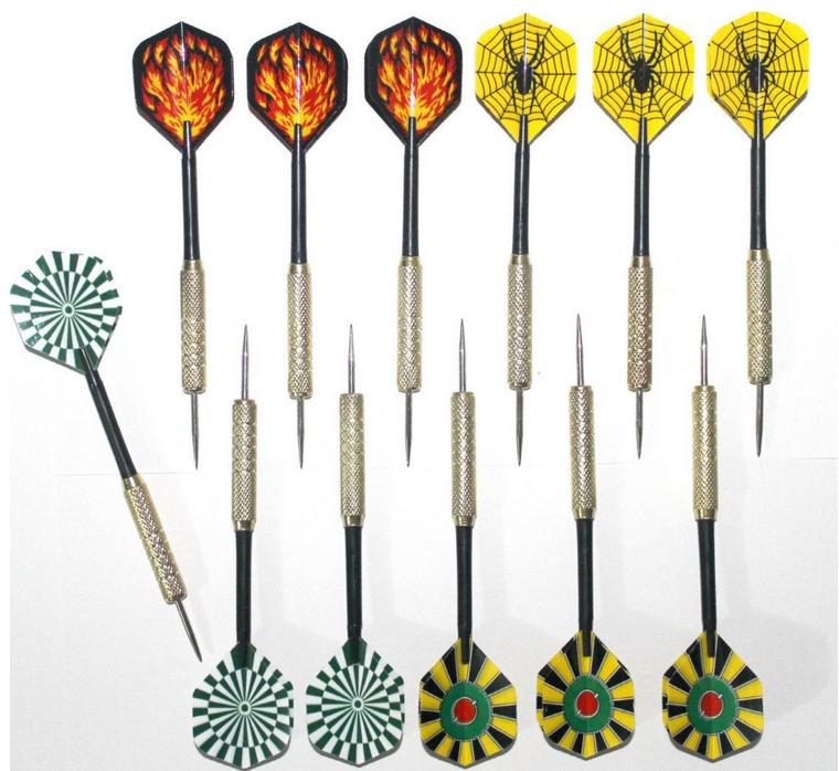 2pcs/lot Free shipping 14.5cm copper dart needle darts 20 kinds of patterns designs selection GYH(China (Mainland))