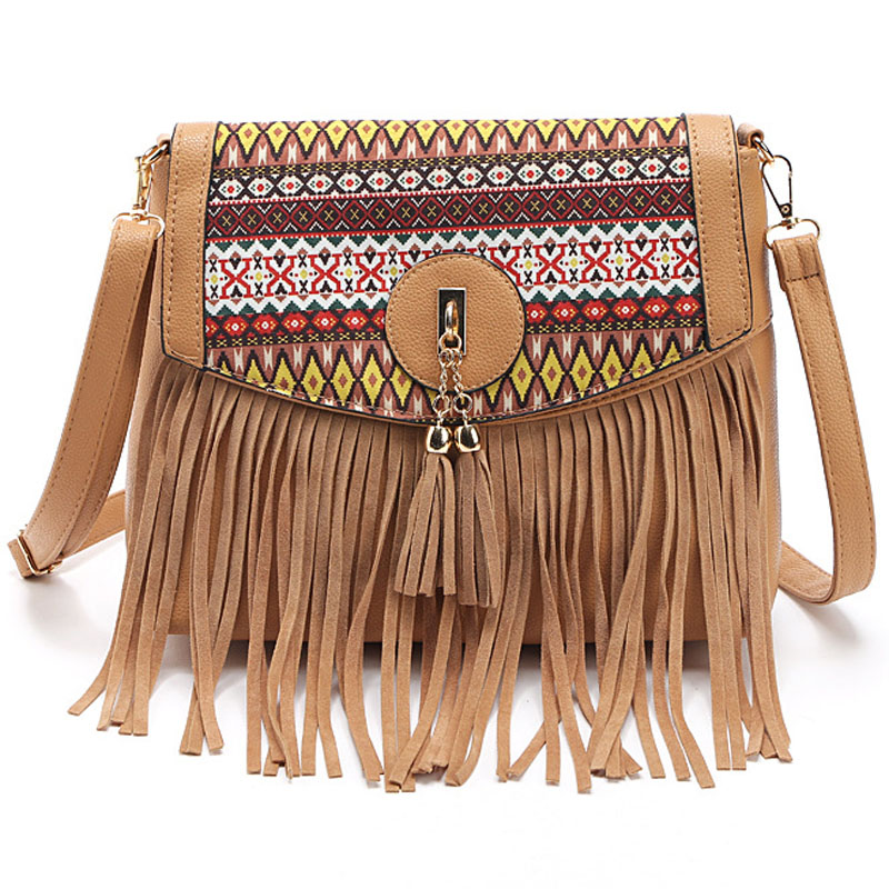 2016 New Original Girls Bags Tassel Designer Handbags Brand Women Shoulder Bag Charms Messenger Bags Brown bolsa feminina FR199(China (Mainland))