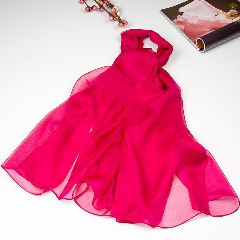 100% Silk Scarf Women Scarf Solid Pashmina Ultrathin Scarf Silk 2016 Large Shawl Long Wrap Big Size Silk Scarf Luxury Lady Gift(China (Mainland))