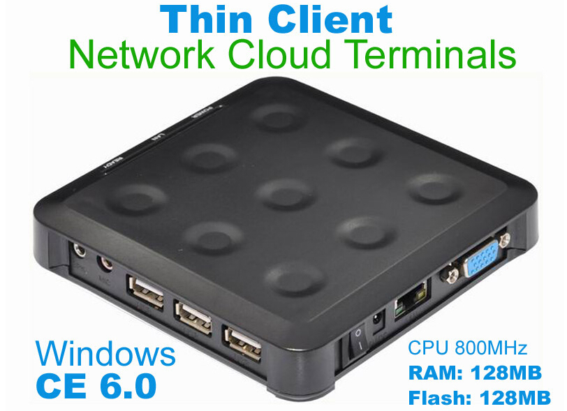 N380 (TS660) Cloud Computing Terminal WIN.CE 6.0 Black Windows And linux Server Support One Can up To More Users FREE SHIPPING(China (Mainland))