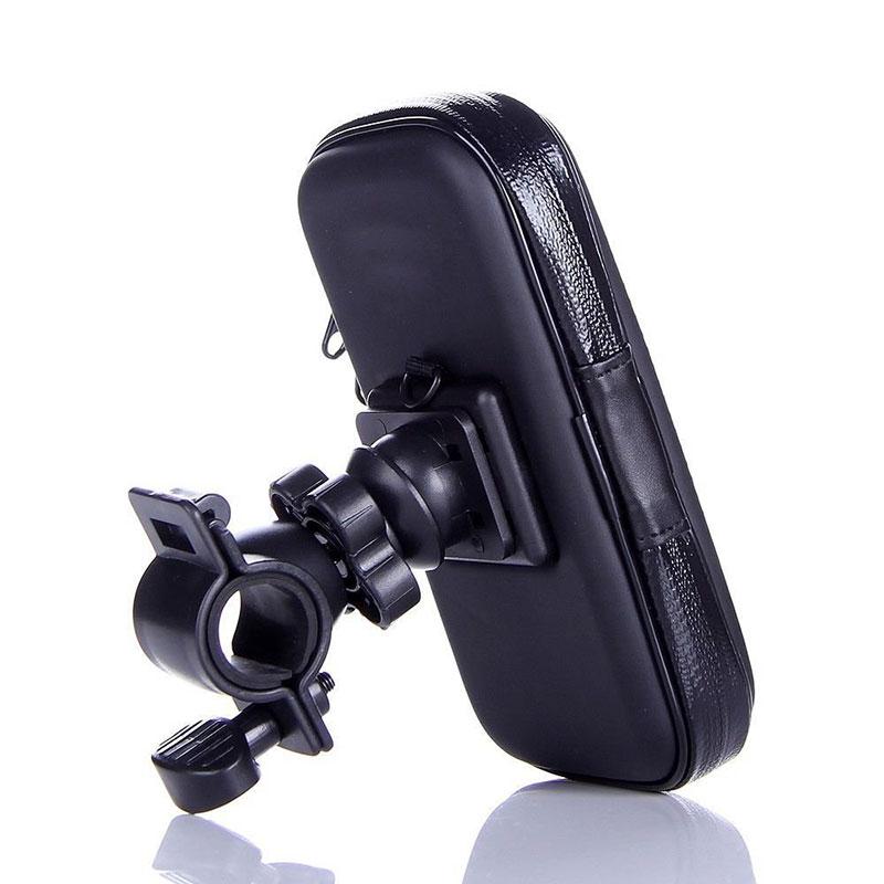 Bicycle Phone Holder Bike Handlebar Mount Holder Waterproof Case Bag for HTC One M7/M8 Black Color(China (Mainland))