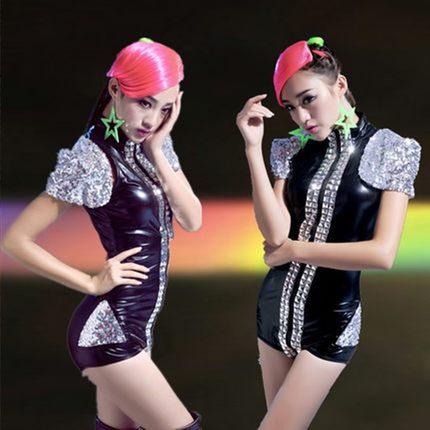 2015 Sexy Lingerie Latex Pvc Teddies Jumpsuit Zentai Costume Women Black Catsuit Pole Dance Clothe Sexy Costume(China (Mainland))