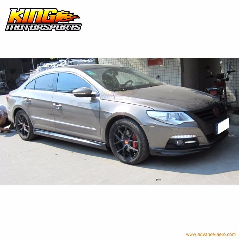 2008-2012 PP Polypropylene Front Bumper Lip Spoiler Bodykit Fit Volkswagen VW CC