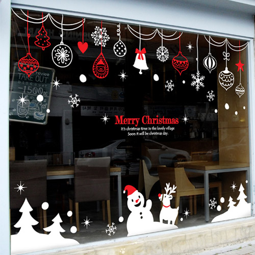 Wall Decor Showroom : Christmas vinyl wall decal rings snowman