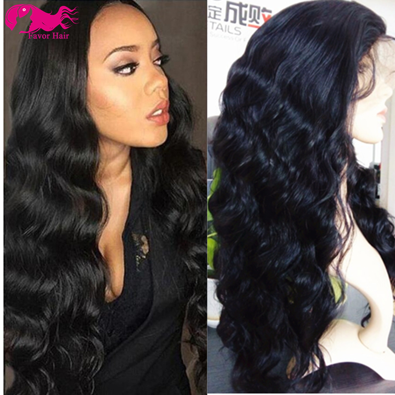Фотография Full Lace Human Hair Wigs Body Wave Brazilian Lace Front Human Hair Wigs 130 Density 6A Body Wave Glueless Full Lace Wigs