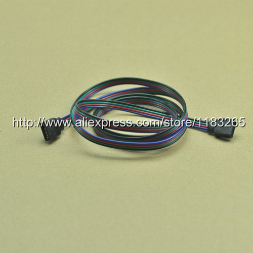 Free Shipping RGB Extension Cable Connect 4pins 1m Female plug 4 Color Lines RGB 5050 3528 Connector Line10pcs/Lot(China (Mainland))