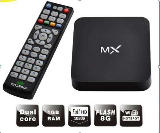 MX XBMC Midnight 8GB Android 4.2 Dual Core 1080P Media Player TV Box WIFI Internet Google Skype Youtube Facebook fully loaded(China (Mainland))