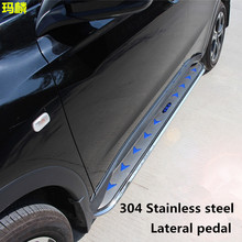 Factory Directly Supply Auto Parts Side Step Nerf Bar ,Silver Stainless Steel Running Boars For Cherolet Capatival 2009-2015