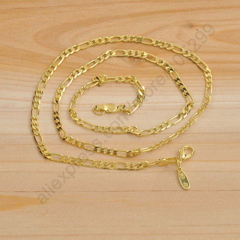 Free Shipping 5PCS 22″ New Gold Jewelry   Yellow Gold Filled Necklaces Snake Chain GF Gold Necklace 1.3MM For Pendant Set