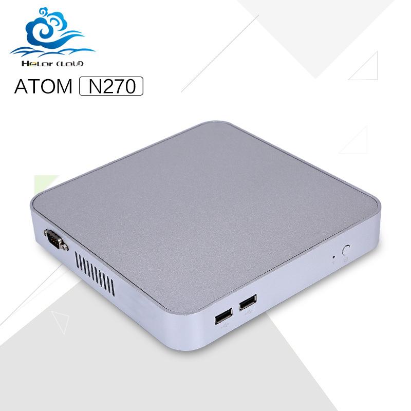 Low price Mini pc Atom N270L 1.6GHZ Single core two thread Micro desktop nettop windows xp windows 2000 with wifi Vga+hdmi(China (Mainland))