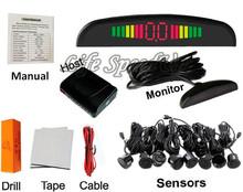 Автомобили детектор парктроник 8 датчики парковки система комплект automotivo оповещения радар рабочий ас в автомобиль помочь с 64 цвета