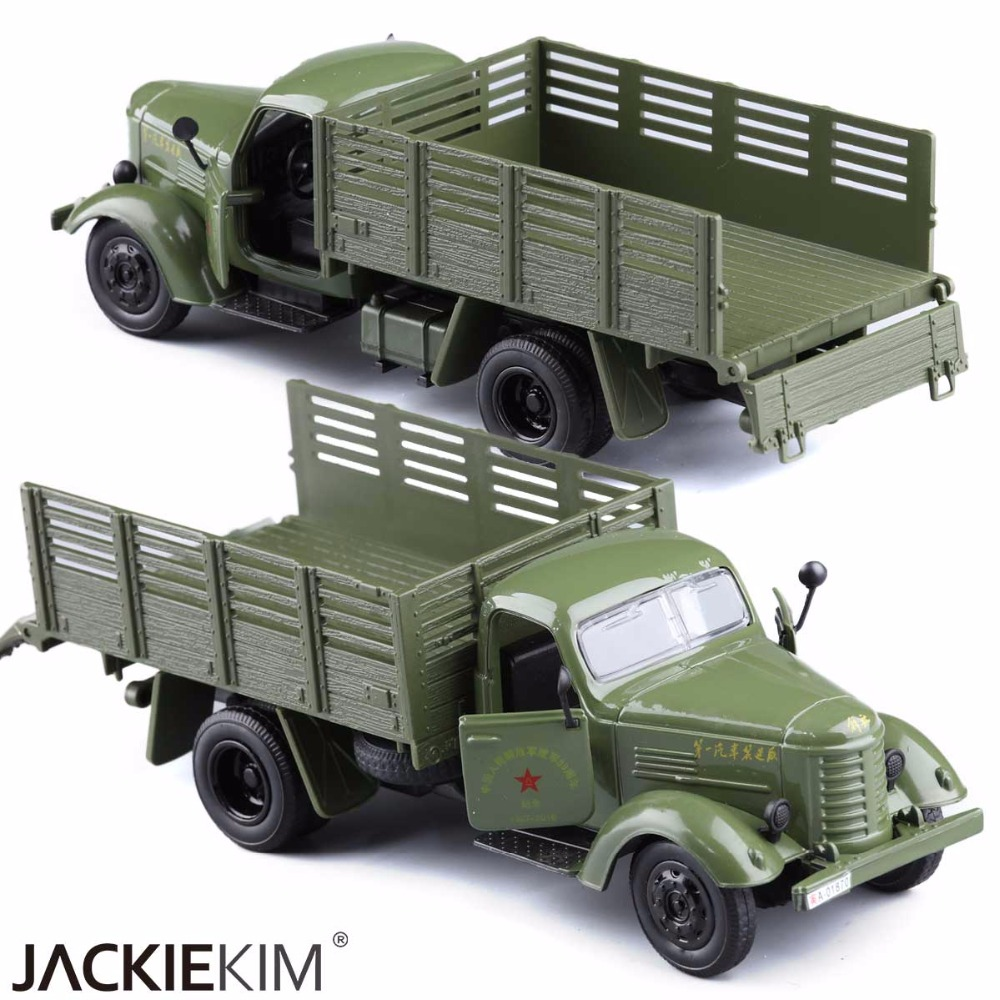 1:36 Jiefang Military Diecast Truck Model With Light Sound And Army Car Green Truck Miliary Model Children Toys FreeShipping(China (Mainland))
