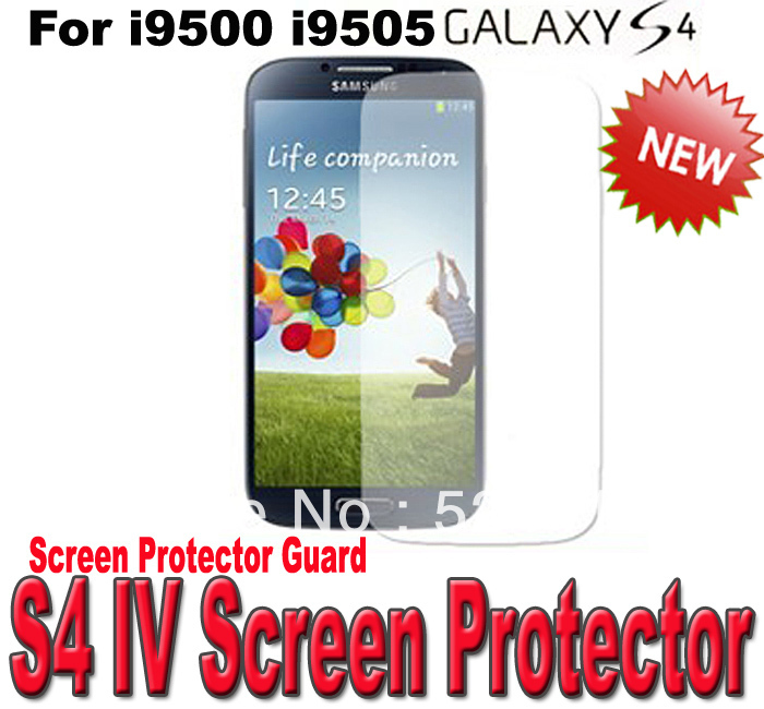 Wholesale Protective Film Clear Screen Protector Guard For Sumsang Galaxy S4 S 4 S IV i9500 i9505 300pcs/lot fast Shipping(China (Mainland))