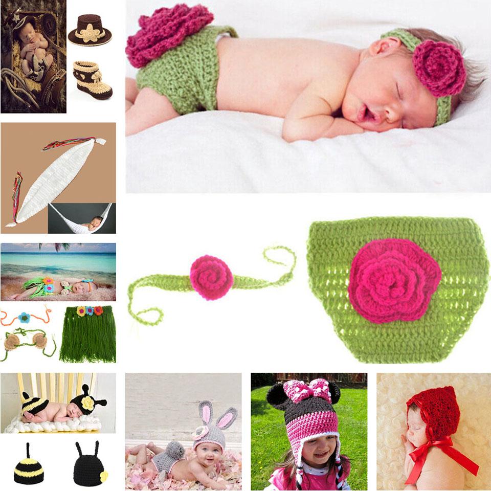 Lovely Flower Design Baby Girl Photography Props Handknitted Infant Headband Pants Set Newborn Photo Prop Crochet 1set MZS-15003(China (Mainland))