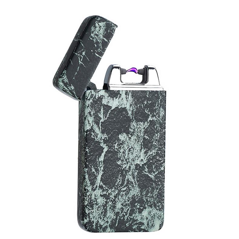ถูก สไตล์หินอ่อนรูปEncendedorโลหะUSB Windproofเบาอิเล็กทรอนิกส์อาร์ชีพจรเบาไฟแช็บุหรี่สูบบุหรี่แกดเจ็ต