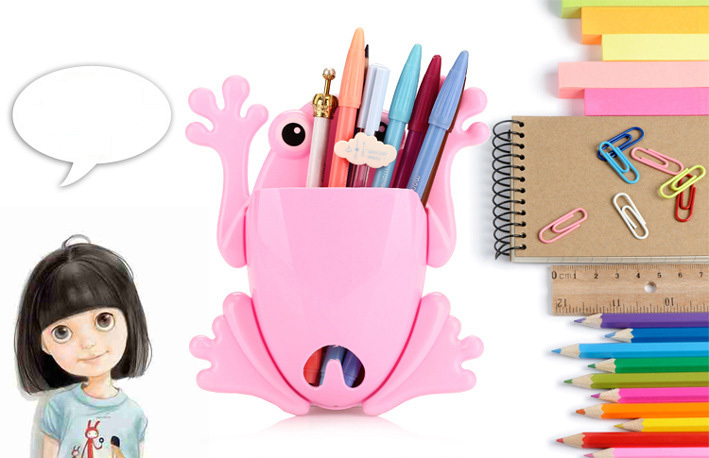 Frog Wall Mount Suction Cup Toothbrush Toothpaste Holder Cute Stuff Organizer(China (Mainland))