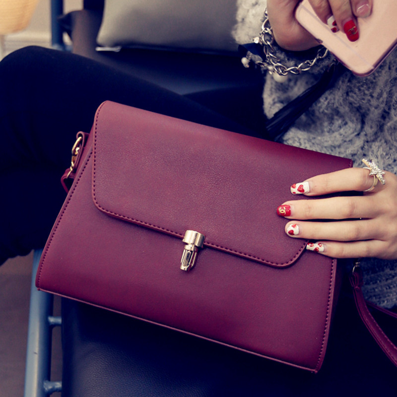 2016 new Shoulder Bag Messenger Bag Handbag bag bag leisure square female fashion fabric grey black red leather PU 50g 0 001g precision digital jewelry gem powder scales electronic diamond milligram scale bench weighing balance free shipping