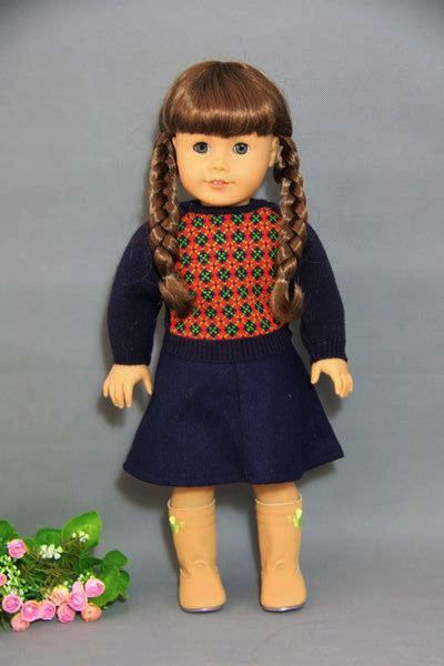 doll clothes doll accessories molly sweater and skirt for 18 inch american girl doll girl 39 s. Black Bedroom Furniture Sets. Home Design Ideas