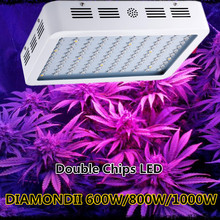 DIAMOND II 600W 800W 1000W Double Chips LED Grow Light Full Spectrum 410-730nm For Indoor Plants and Flower with Very High Yield(China (Mainland))