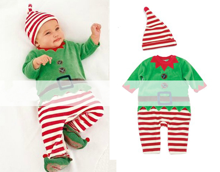 9 Styles Baby Kid Infant Christmas Santa Romper Jumpsuit Bodysuit Outfit Clothes