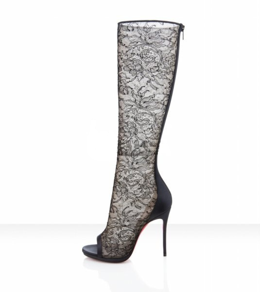 new arrival lady fashion lace embroidery long boots for summer Free shipping Knee hight boots(China (Mainland))