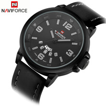 2016 Mens Watches Top Brand Luxury NAVIFORCE Men's Quartz Watch Waterproof Sport Military Watches Men Leather relogio masculino