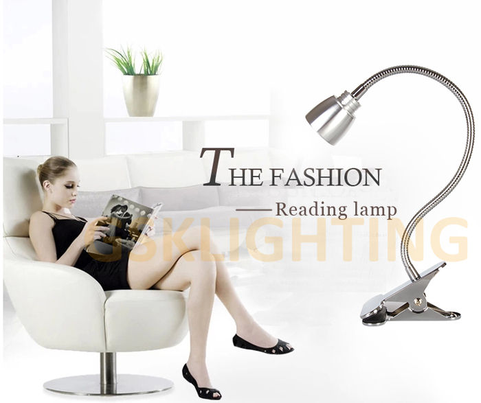 high quality 5W USB led clip lamp with USB charger dimmable 2 brightness free shipping(China (Mainland))