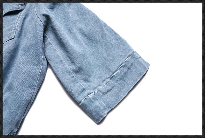 HTB1ZotzQpXXXXbPaXXXq6xXFXXXk - Must Have Women's Clothing Set, 2017 New Slash Neck Half Sleeve Denim Top and Denim Cotton Skirt One Set