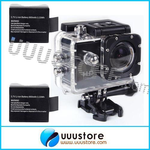 SJ4000 Black 12MP HD 1080P Car Cam Sports DV Action Waterproof Camera 2x Battery GoPro Camera Style<br><br>Aliexpress
