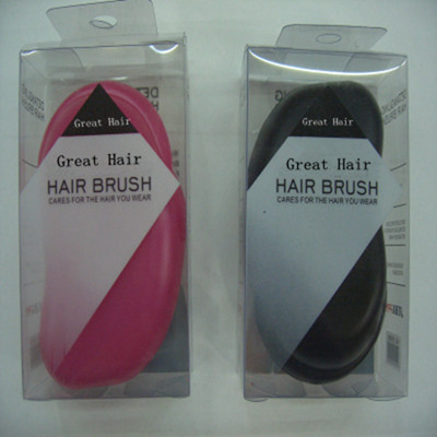 Great Hair Probucts+Professional pink & Black brush Hair Extension Easy Comb Free Shipping(China (Mainland))