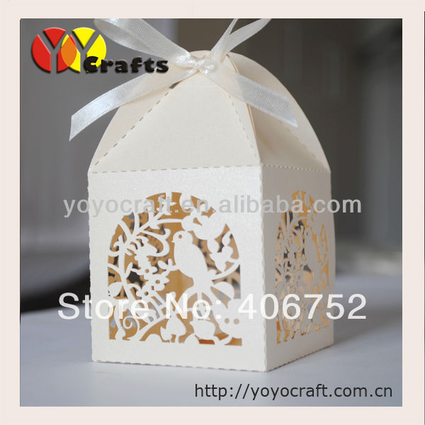 Laser Cut paper wedding boxes/candy boxes/gift boxes,laser cut cupcake wedding boxes(China (Mainland))