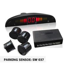 Датчики парковки 22 мм 4 датчики датчики парковки комплект для авто вспять радар из светодиодов + парктроник 4 датчики
