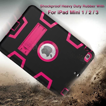For iPad Mini 2 / iPad Mini 3 Case EVA Heavy Duty Shockproof Hybrid Rubber Rugged Hard Impact Protective Skin Shell Case(China (Mainland))