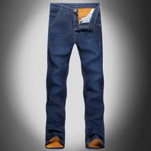 Men Denim Jeans Winter Plus Velvet Snow Warm Denim Pencil Jeans Brand Design Male Slim Fit Fashion Outdoor Casual Pants D1785(China (Mainland))