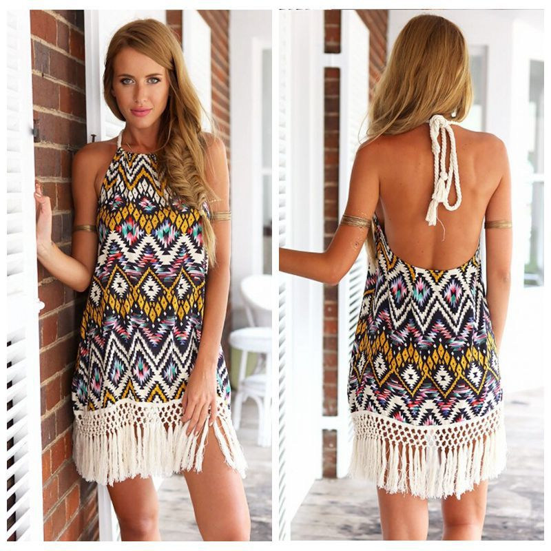 Женское платье Summer dress other 2015summer wonen /o vestidos pls women dress женское платье bohemian i women summer beach dress 2015 o vestidos w0014