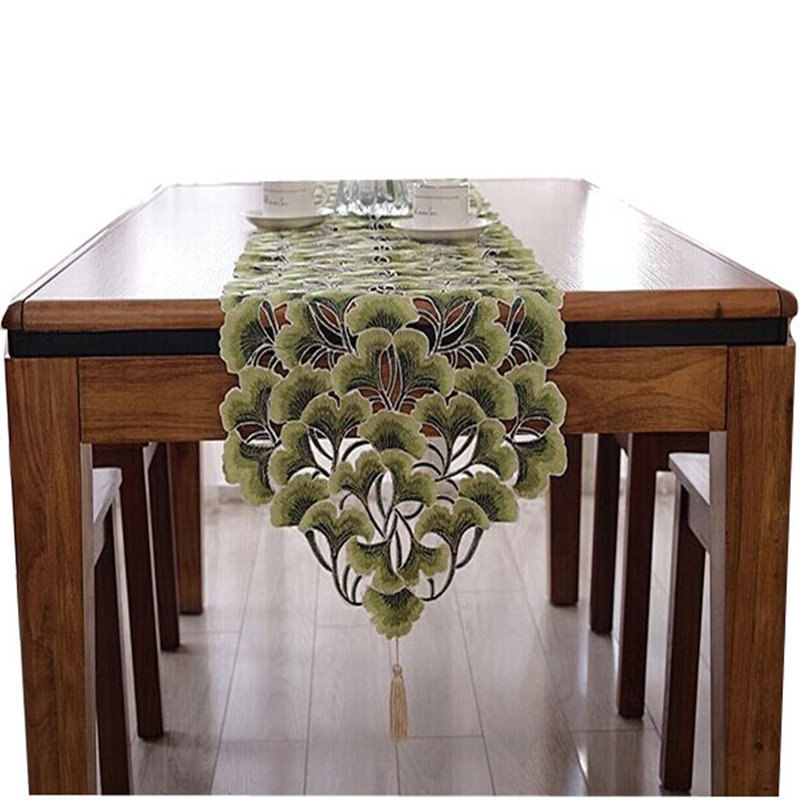 embroidery table runner table cove table cloth home hotel dining room