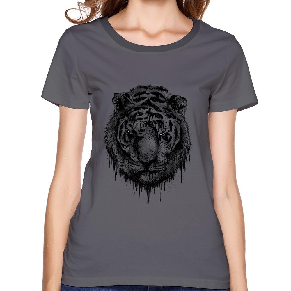 Solid Womens T Shirt Be Wild Tiger Cool Pics Women T-Shirts(China (Mainland))