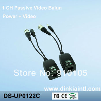 1CH CCTV CAT5 RJ45 Balun Video Data Power for Camera Passive Video Balun Transceiver  DS-UP0122C