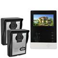 4 3 Video Door Phone Kit IR Night Vision Video Intercom with Dooebell Monitor for Villa