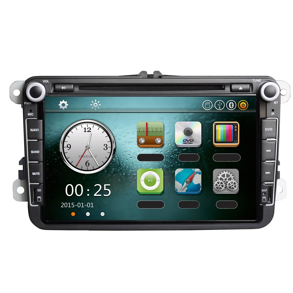 """Universal 8"""" 1080P HD GPS Navigation Car DVD Player Bluetooth Car Radio 2 Din in Dash Stereo Head Unit for VW + Map + Card(China (Mainland))"""