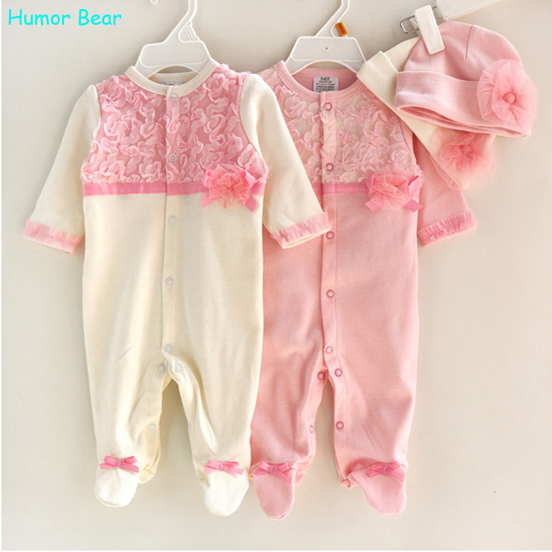 Humor Bear Princess Style Newborn Baby Girl Clothes Girls Lace Rompers+Hats Baby Clothing Sets Infant Jumpsuit Gifts<br><br>Aliexpress