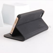 Cashmere Leather Cell Phones Cover For Apple iPhone 5 5S Case Flip Stand Leather Cover For i Phone 5 5S Mobile Phone Cases Bags(China (Mainland))